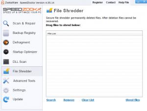 SpeedZooka File shredder