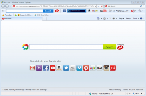 Ask Toolbar and altered Homepage
